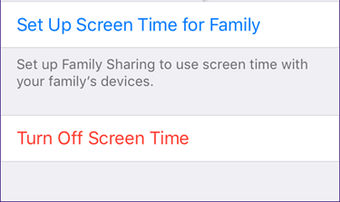 Disable Screen Time in iOS