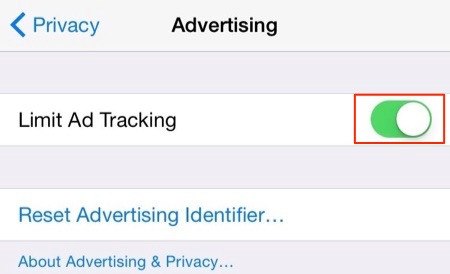 How to Turn off Limit Ad Tracking on iOS 11