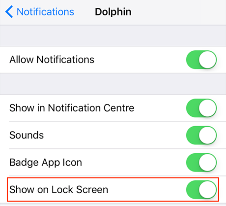 Disable Notifications on the Lock Screen