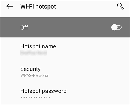 Enable Android Hotspot