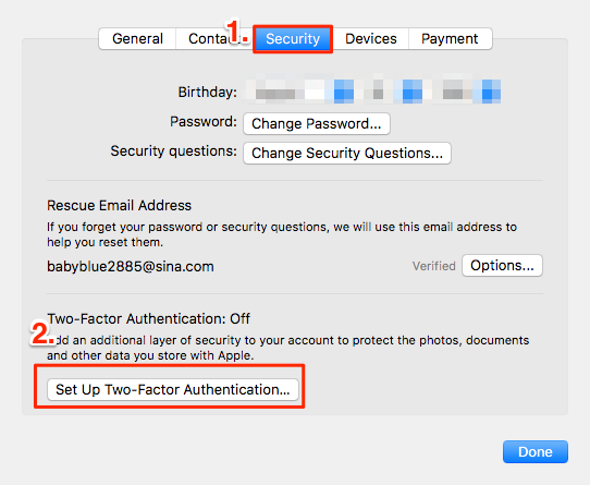 How to Turn on Two-Factor Authentication Mac – Step 3