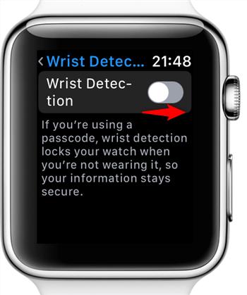 Turn on Wrist Detection on Apple Watch
