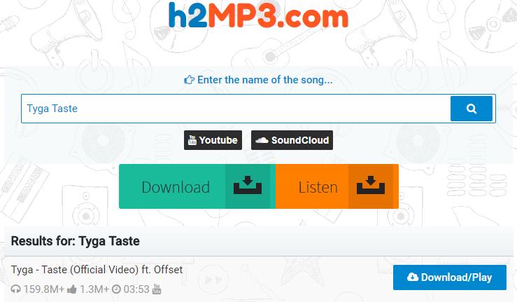 How to Free Download Tyga Taste MP3 via h2MP3