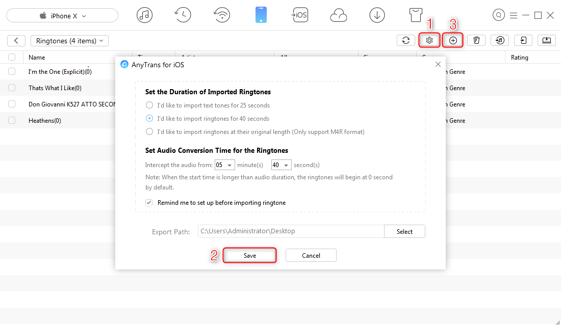 How to Transfer Tyga Taste Ringtone to iPhone - Step 3
