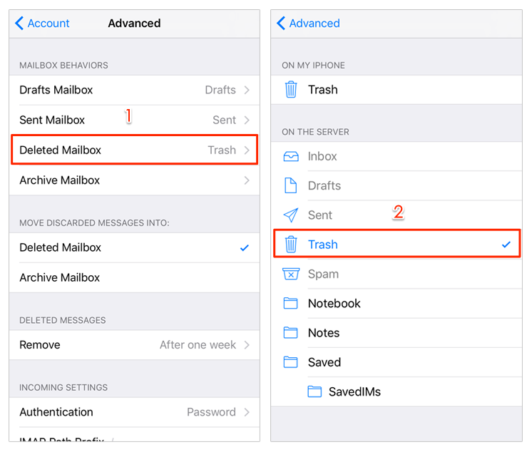 Fix iPhone Unable Move Message to Trash - Tip 3