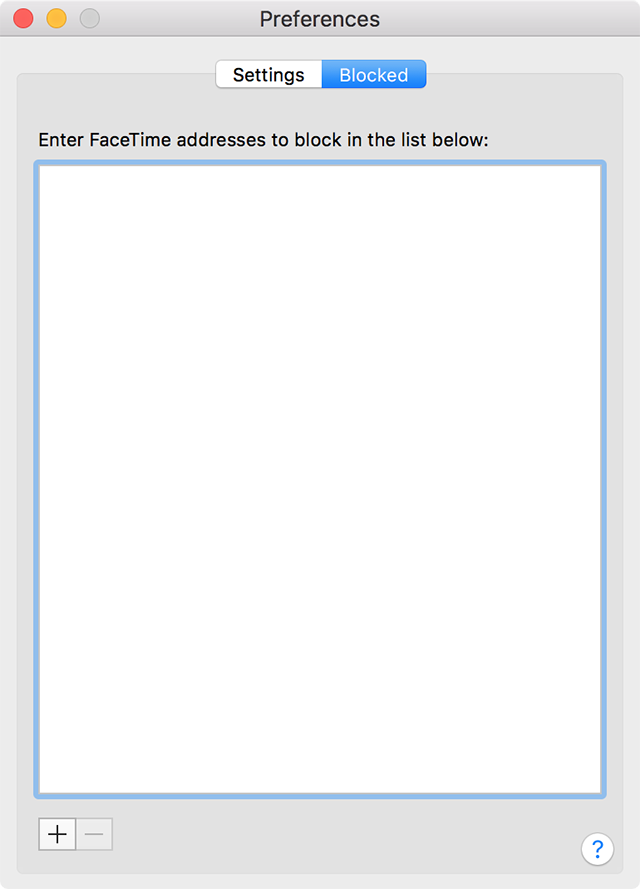 Unblock Users in FaceTime on the Mac