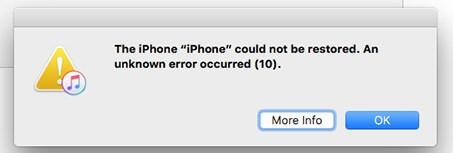 iTunes Error 10