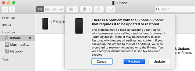 Restore An iPhone in Recovery Mode