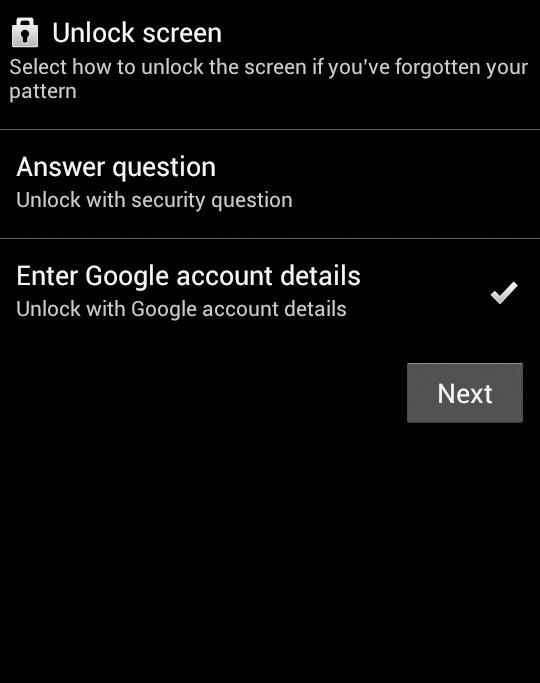 How to Unlock Android Phone Password without Factory Reset on Android 4.4 or Lower - Step 2