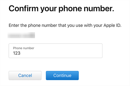 Confirm your phone number