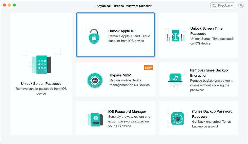 Unlock your Apple ID with AnyUnlock