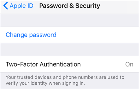 Change the Apple ID password on your iPhone