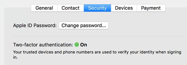 Change the Apple ID password on Mac