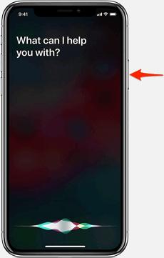 Activate Siri on iPhone