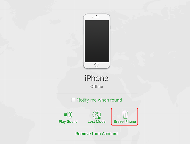 Remotely remove passcode from your iPhone