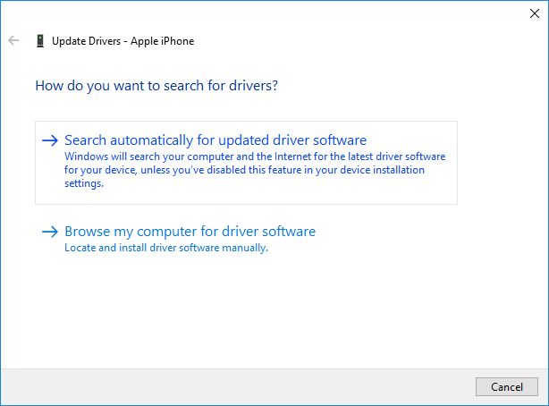 Update Apple USB Driver on Computer