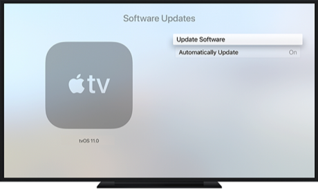 Update the Software Version on Apple TV
