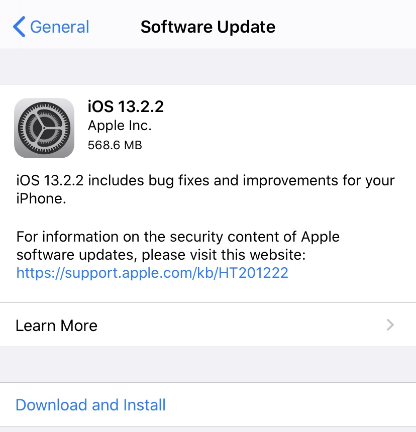 Updating the iOS Version