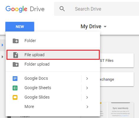 Upload Files or Folder to Google Drive