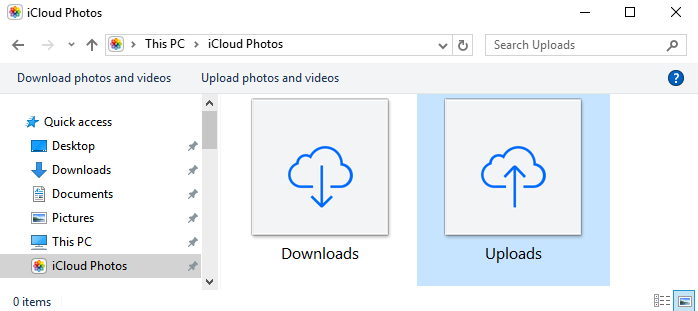 Upload Photos from PC to iCloud