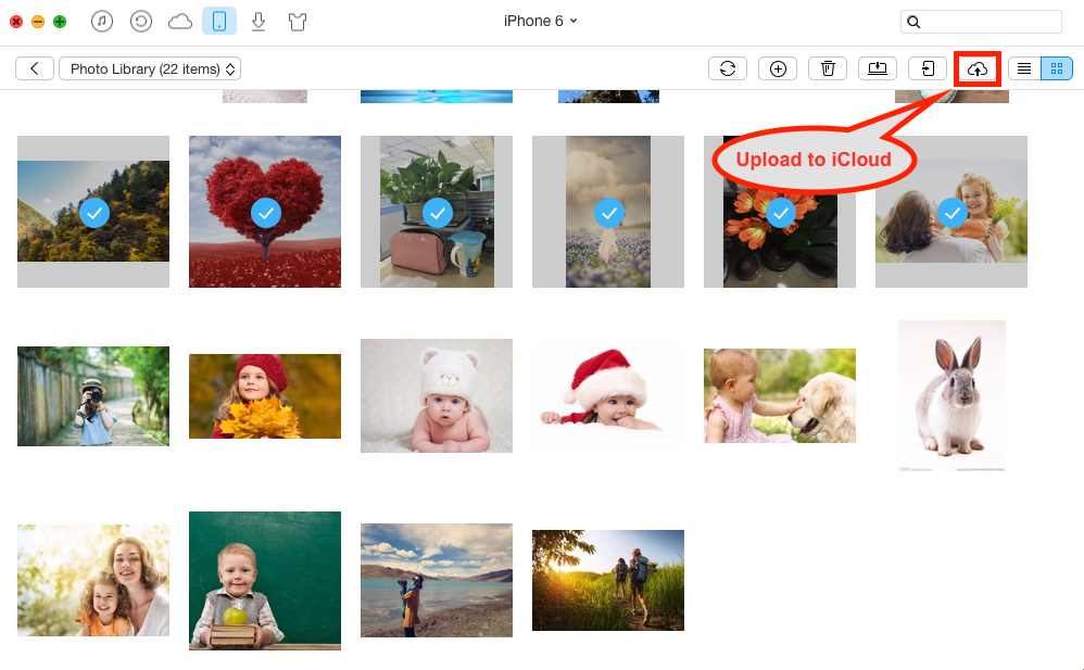How to Upload Photos to iCloud from iPhone with AnyTrans - Step 3