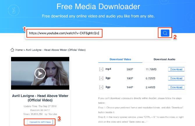 AnyGet Media Downloader – Best URL to Mp3 Converter