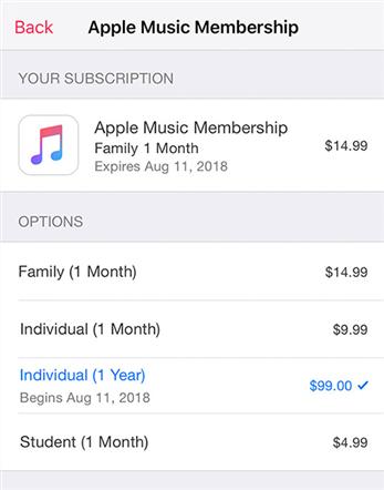 Using Apple Music on iPhone