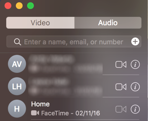 Place a FaceTime Call on Mac
