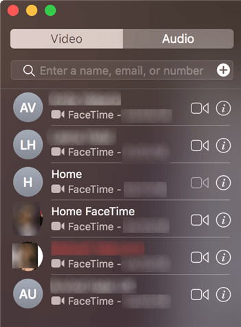 Using FaceTime on the Mac