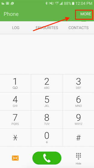 View Blocked Numbers on Android Phone - Step 1