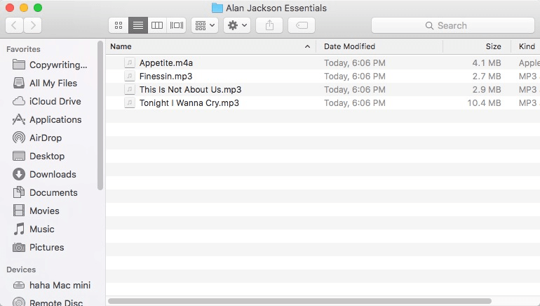 View Files on Mac