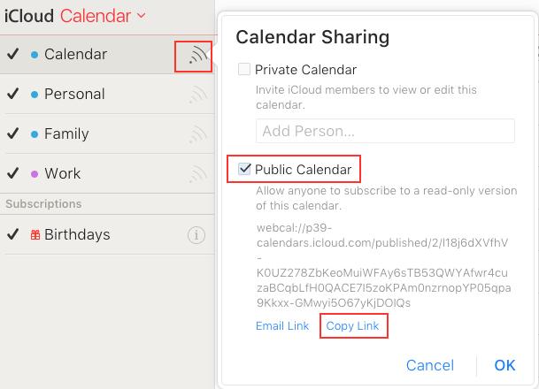 View iCloud Calendar in Google by Importing Ics File - Step 1
