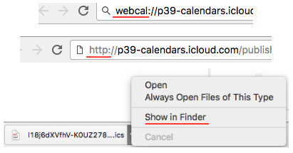 View iCloud Calendar in Google by Importing Ics File - Step 2