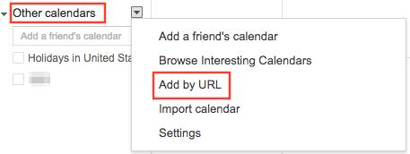 View iCloud Calendar in Google by Adding URL - Step 2