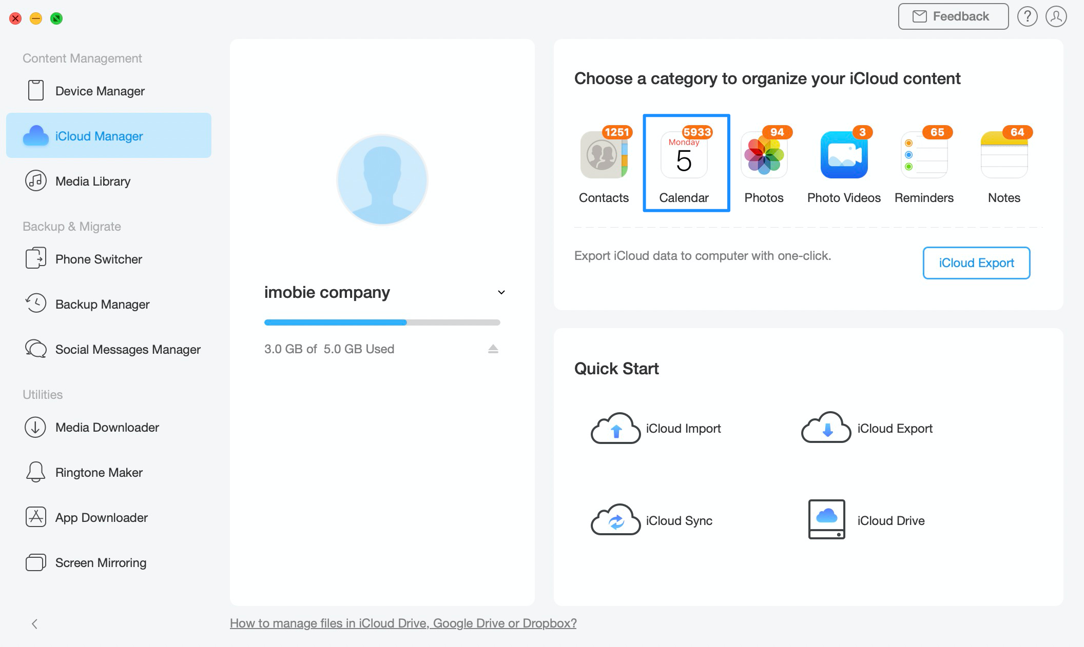 View iCloud Calendar in Google with AnyTrans - Step 2