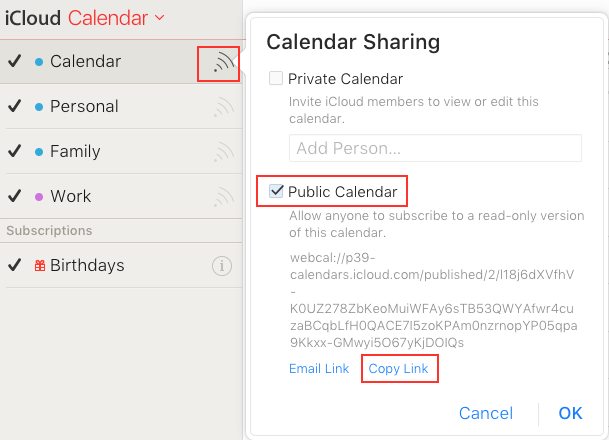 View iCloud Calendar in Google by Importing Ics File - Step 1