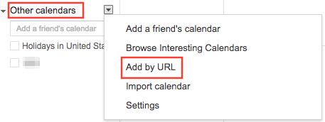 View iCloud Calendar in Google by Adding URL - Step 2