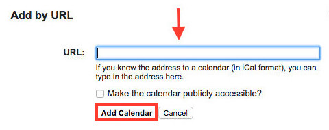 View iCloud Calendar in Google by Adding URL - Step 3