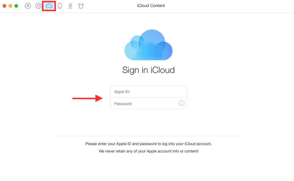 View iCloud Calendar in Google with AnyTrans - Step 1