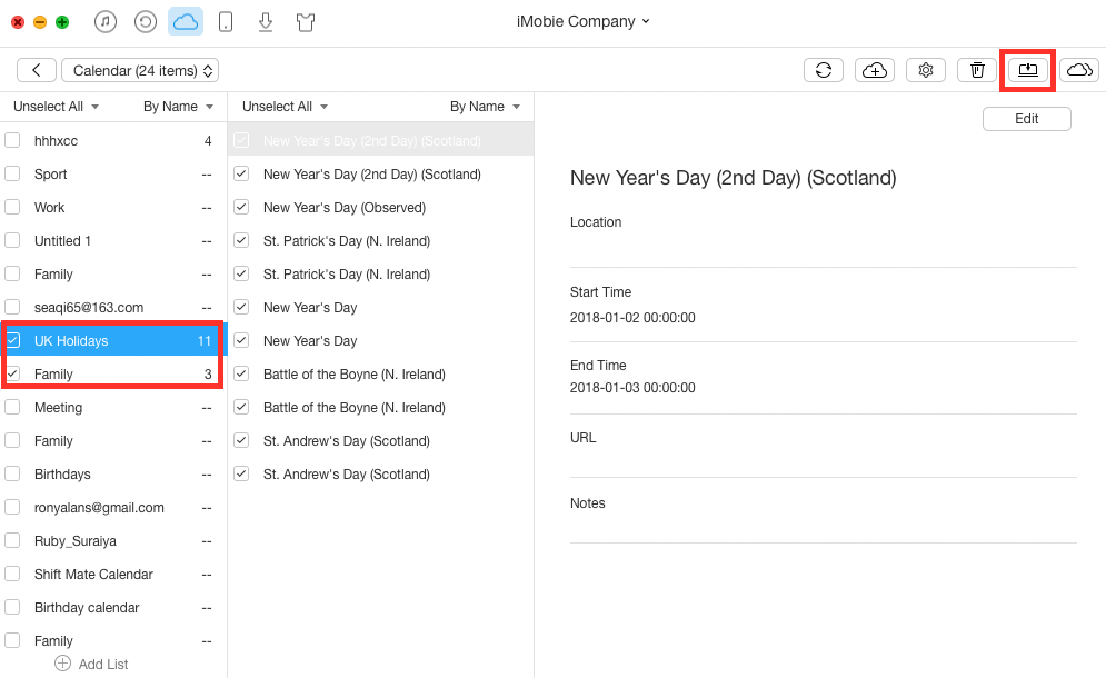 View iCloud Calendar in Google with AnyTrans - Step 3