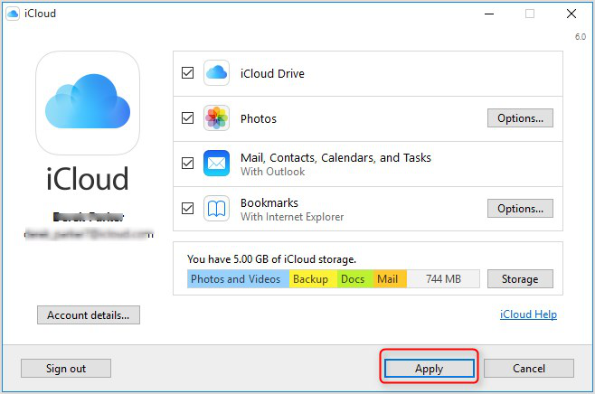 How to View iCloud Calendar in Outlook - Step 2