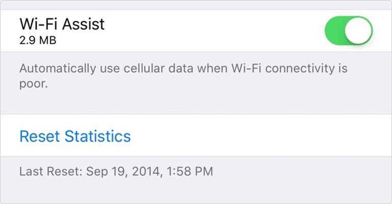 How to View Mobile Data Used by Wi-Fi Assist