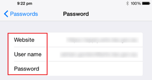 View the Specific Password You Want