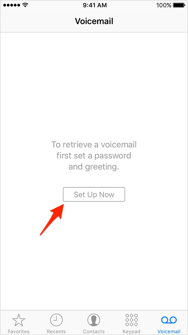 Set Up a New Visual Voicemail on iPhone