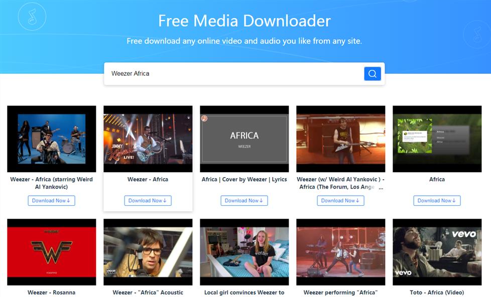 How to Free Download Weezer Africa via AnyGet