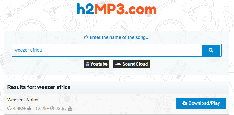 How to Free Download Weezer Africa MP3 via h2MP3