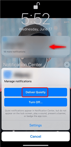 Enable Deliver Quietly