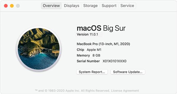 M1 Apple Silicon Mac is Running macOS Big Sur (macOS 11)