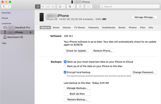 Restore A Backup on the iPhone