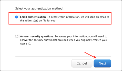 How to Reset Apple ID Password – Method 1